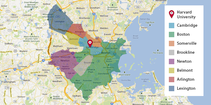 Home Pricing And Harvard Communities Harvard University Housing - Map of harvard university